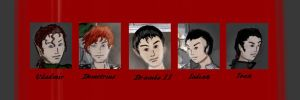 Vampire Cousins Faces by Silvre