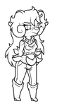 Chibi lineart by Xxcandywater-fallsxX
