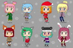 [OPEN 2/8] Winter Time Girls Adoptables by izka197