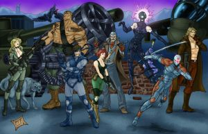 Metal Gear Solid Line up by ChadFeldpausch