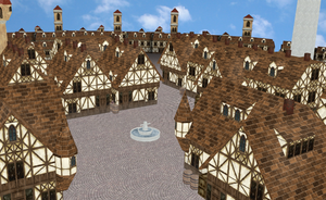 MMD medieval town stage - UPDATED AND BETTER- by amiamy111