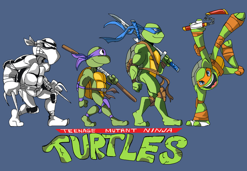 Turtle Evolution by Jhonny-Manic