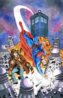 Superman and the 4th Doctor by SoVeryUnofficial