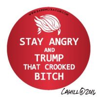 Stay Angry and Trump button by Conservatoons