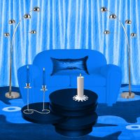 Background Blue Room by weezya
