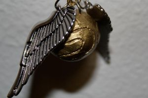 Golden Snitch Pendant by medievalfaery