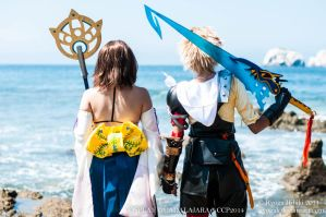 Yuna and Tidus - Final Fantasy X/X2 by Ryogak