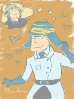 Doodle _ His hat by BarbruBarbarian