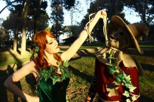 Scarecrow vs. Poison Ivy by NekoCLaRish