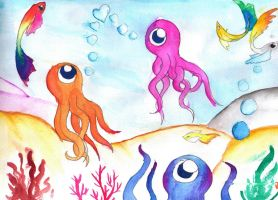 Octopi by AngieMyst