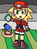 Its just the awesome roll caskett!(Megaman legend) by thegamingdrawer
