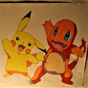 Pikachu and Charmander by Shreddinghead