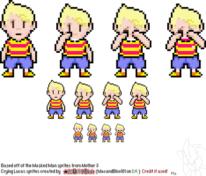 Crying Lucas sprites by MacandBloo101