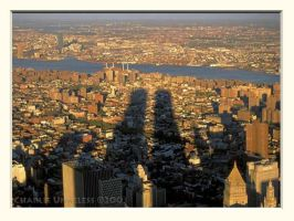 Twin Tower Shadows by charlieu