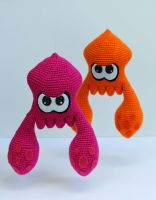 Splatoon Squid Amigurumi by bandotaku