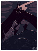 [100Palette] Batman and Ace the Bathound by kompy