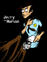 Jerry the Human Cover by EvanPearTree