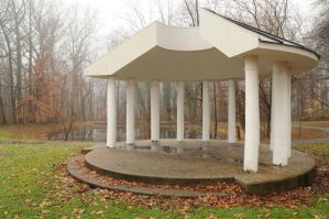 LHP: Foggy Gazebo 1 by lindowyn-stock
