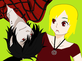 Marshall Lee and Mandy Evil: Huh? by poisonraven5