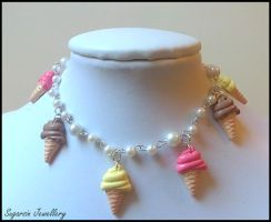 Neapolitan Icecream Bracelet by SugarsinJewellery