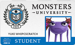 Monsters University Student ID Card by sonicrocker