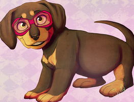 Hipster Puppy by Shembre