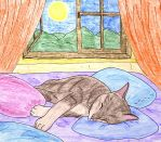 Sleeping Cat by helice93