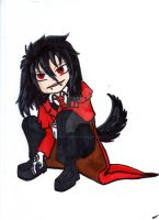 Chibi Alucard puppy by Baka-customs