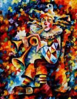 Clown 2 by Leonid Afremov by Leonidafremov