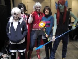 Undertale cosplay (Salon del comic -Zaragoza 2015) by Lady-Bloody7