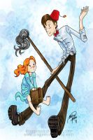 Amelia Pond Meet Raggedy Dr by dragonnova