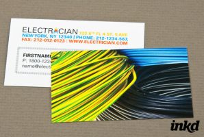 Electrician with Coiled Wires by inkddesign