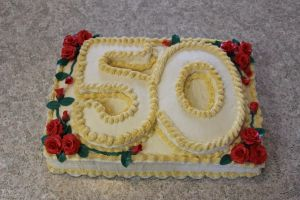 50th Birthday Rose Cake by fairielove