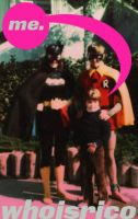 me with batgirl and robin by whoisrico