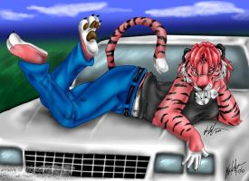 Pink Tigers and Muscle Cars by whitewolf
