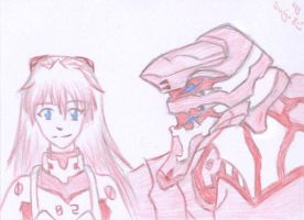 ACEO - EVA-02 and Asuka by Oukami-SuGo