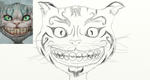 Cheshire Cat Rough Copy by Afroh13