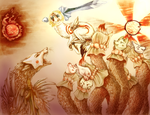 The fall of Oni Island- Okami by TaintedDNA