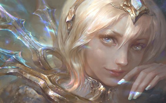 Elementalist Lux Promo Art- Light form by su-ke