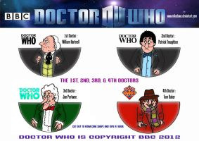 Doctor Who - Mini Doctors 1 - 4 by mikedaws