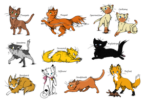 Warrior Cat Adoptables by Alyxeir