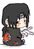 chibi itachi with bunny by kimagattinanera