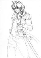 Orphan First Sketch - Dissidia Style by MugenStorm2ndComing