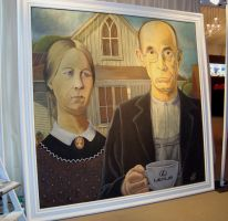 Caffeinated American Gothic by AmazingStreetPaint