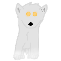 Lineless Chibi Ghost Wolf by Shattered-Skye