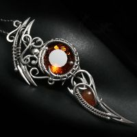 UXENTRAEL Silver, Citrine Madeira and Carnelian by LUNARIEEN
