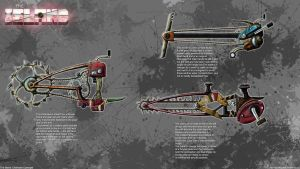 The Island: Chainsaw concepts by xynode