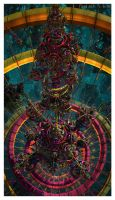Psychedelic Central Turbine by EricTonArts
