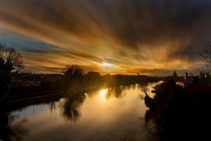 Long Sunset over Wye by adamstephensonscfc