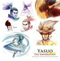 LOL:Yasuo Sketch dump by Red-Sinistra